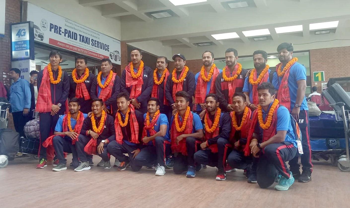 नेपाली क्रिकेट टाेलीलार्इ भव्य स्वागत