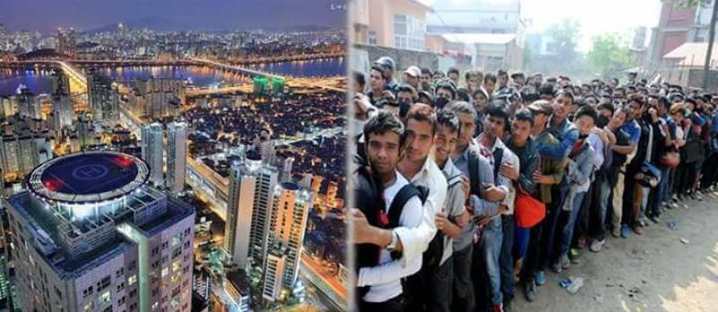 ६० हजार नेपाली कोरियाको श्रम बजारमा