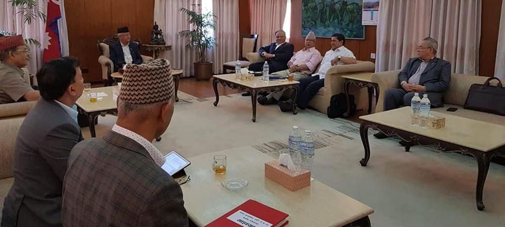 सभामुख छान्न नेकपाले बाेलायाे सचिवालय बैठक