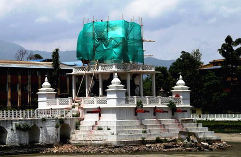 बालगोपालेश्वर मन्दिरकाे शिखर शैलीमा पुनःनिर्माण शुरु