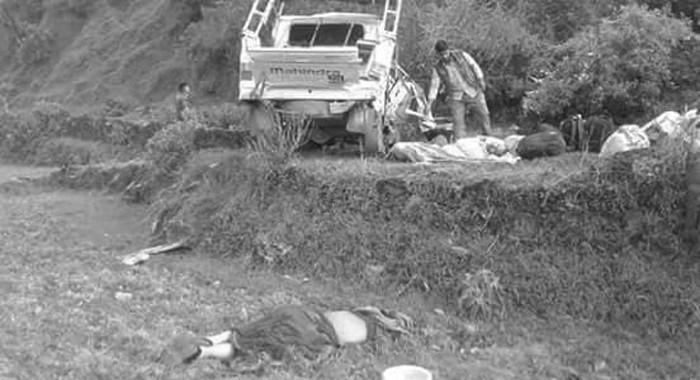 बाजुरामा जीप दुर्घटना, चालककाे मृत्यु