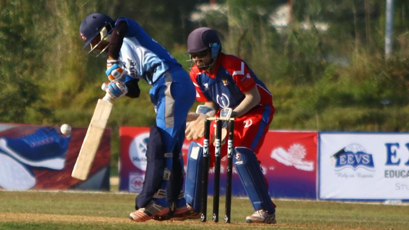पीपीएल क्रिकेटमा धनगढी ब्लुज र विराटनगर टाइटनबीचकाे खेल LIVE