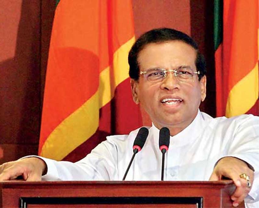 श्रीलंकाका राष्ट्रपति मैत्रीपाला सिरिसेनाले आगामी निर्वाचन नलड्ने