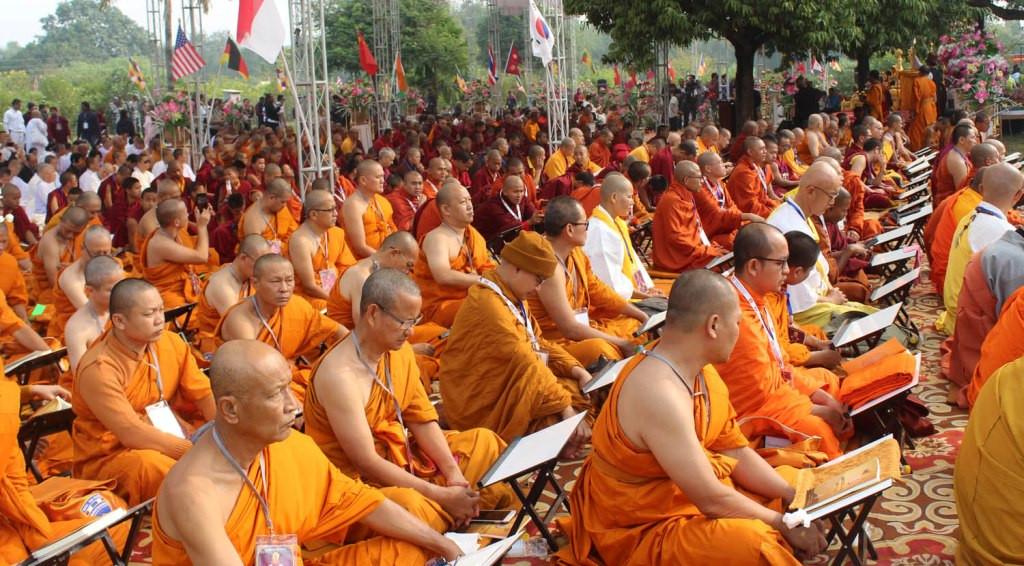 लुम्बिनीमा त्रिपिटक वाचन :१३ देशका भिक्षु सहभागी