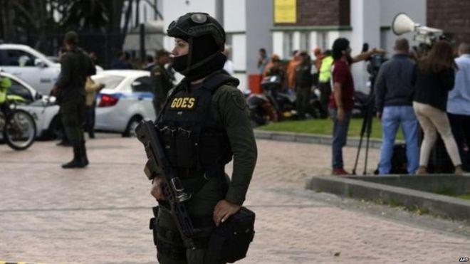 काेलम्बियामा कार बम विस्फोट ९ जनाको ज्यान गयाे