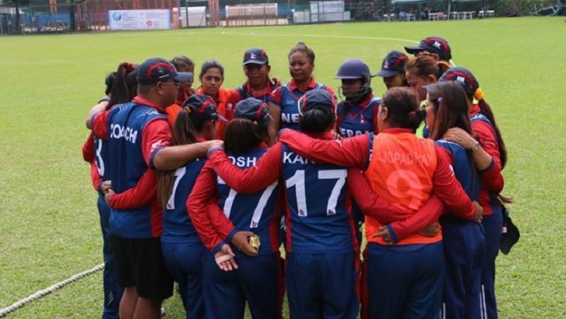 उपविजेता नेपाली महिला क्रिकेट टोली स्वदेश फर्कियो