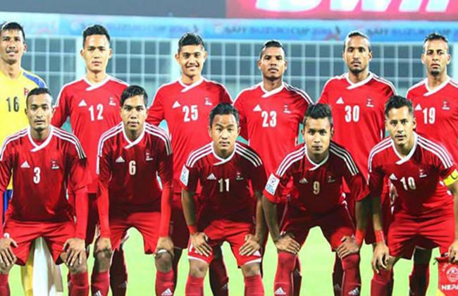 नेपाली फुटबल टोली भारत प्रस्थान