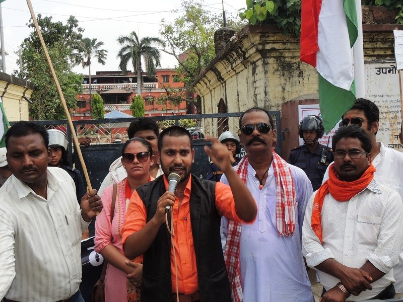 सरकारबिरुद्ध सडकमा उत्रियो राजपा