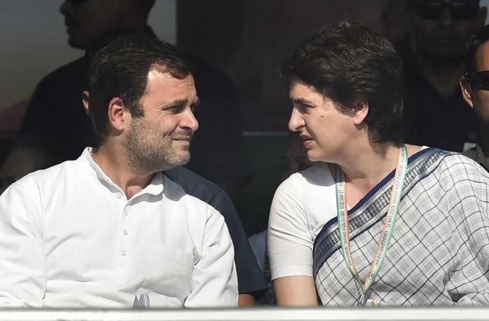 राहुललाई भेट्न घरमा गइन् प्रियंका