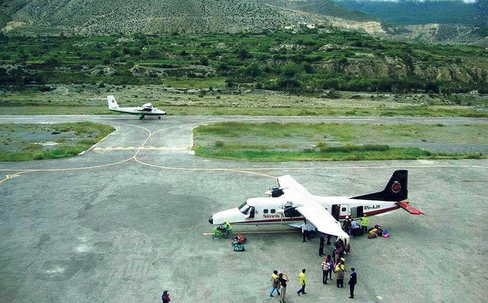 जोमसोम विमानस्थल १५ दिनका लागि बन्द