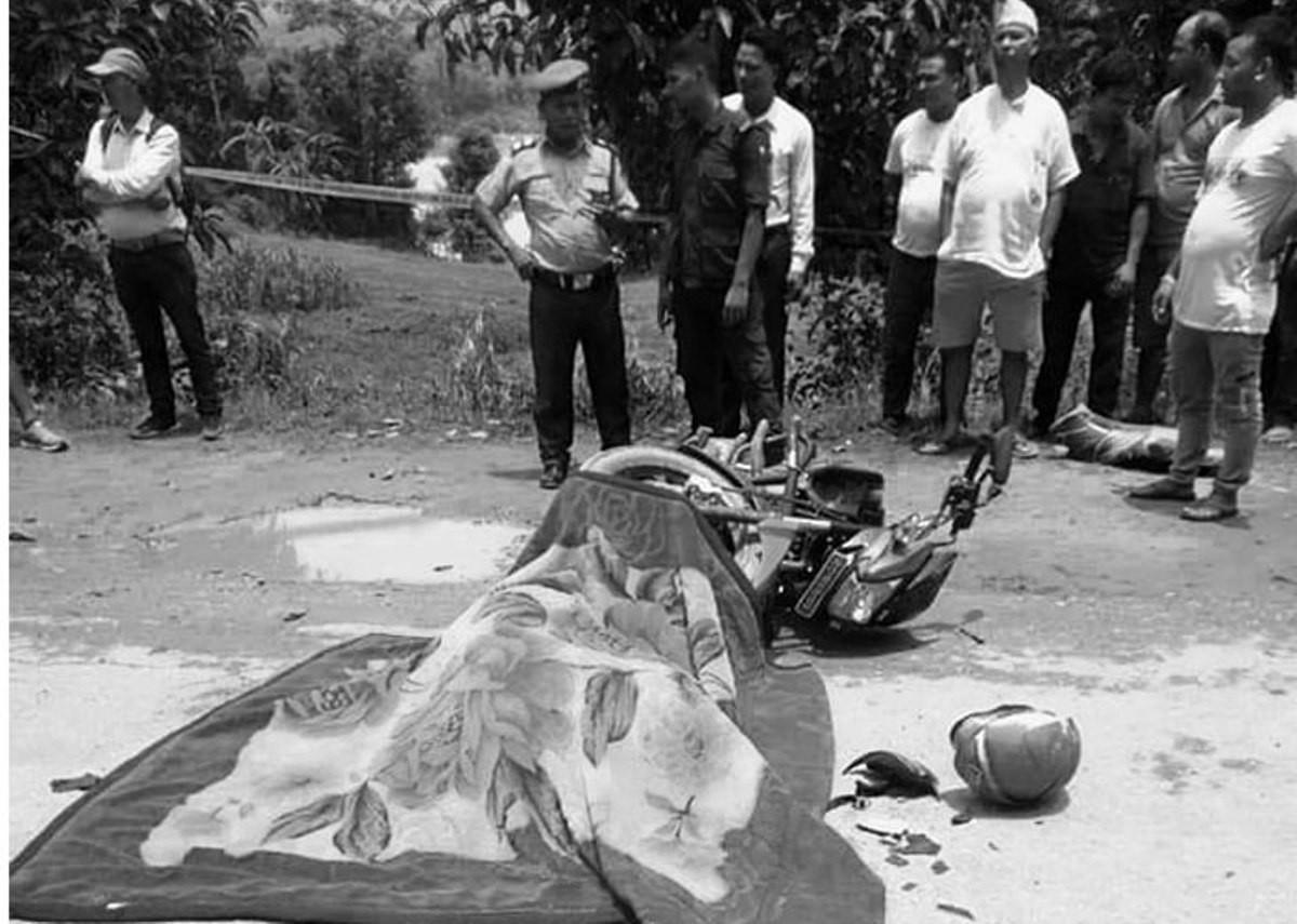 टिपरको ठक्करबाट पत्रकार गेलाङको मृत्यु
