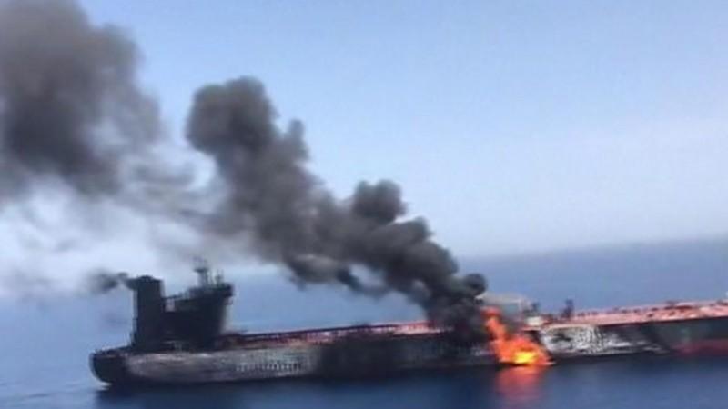 ओमनको सामुद्रिक इलाकामा भएको तेल ट्याङ्कर विस्फोट 'शङ्कास्पद'