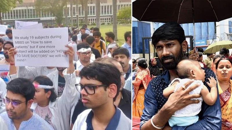 डाक्टरको हडतालका कारण भारतका सरकारी अस्पताल ठप्प, बिरामीको बिचल्ली