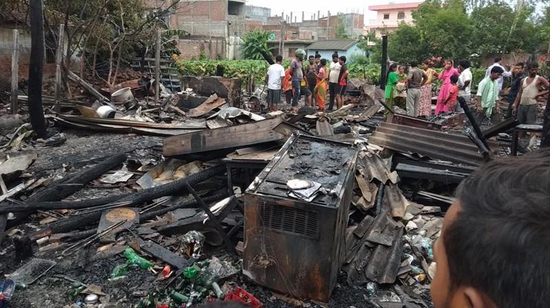 जनकपुरमा ८ वटा सिलिन्डर विस्फोट, तीन होटेल जलेर नष्ट