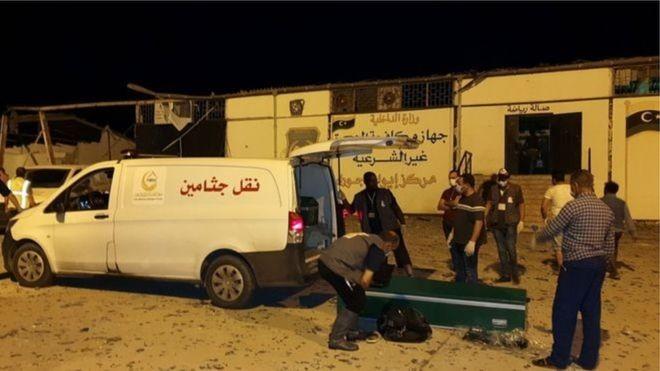 लिबियाको आप्रवासी केन्द्रमा हवाई हमला, ४० को मृत्यु