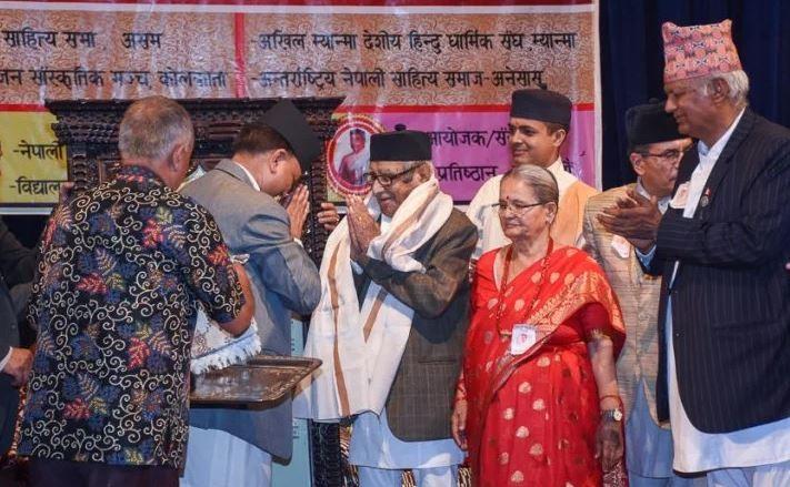 राष्ट्रकवि माधवप्रसाद घिमिरेलाई रथारोहणसँगै अभिनन्दन