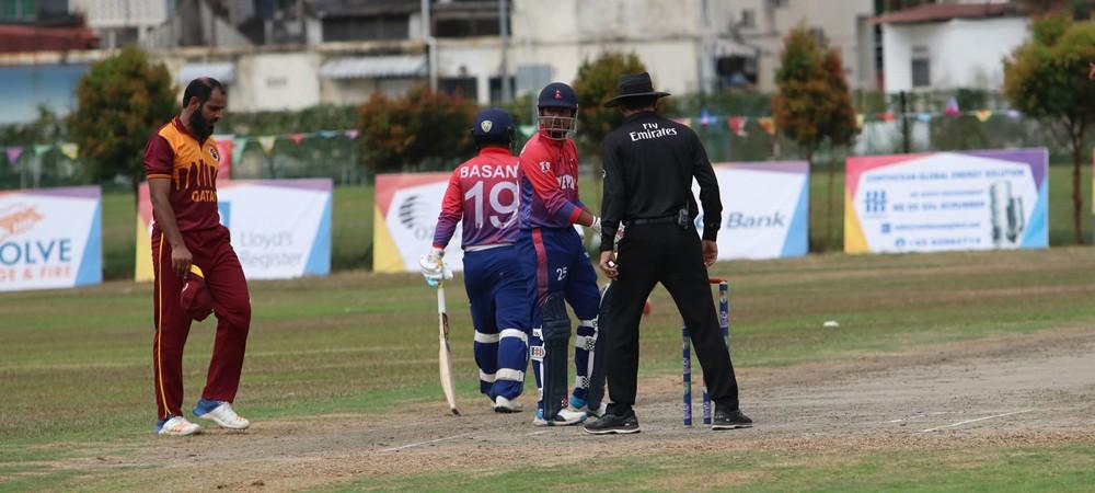 आईसीसी टी-२० विश्वकप एसिया छनोट : कतारसँग नेपाल ४ विकेटले पराजित