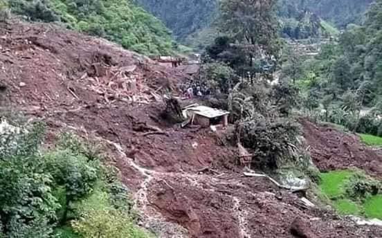 मराङ र बिमको पहिरोमा २९ जना बेपत्ता, उद्दार कार्य जारी