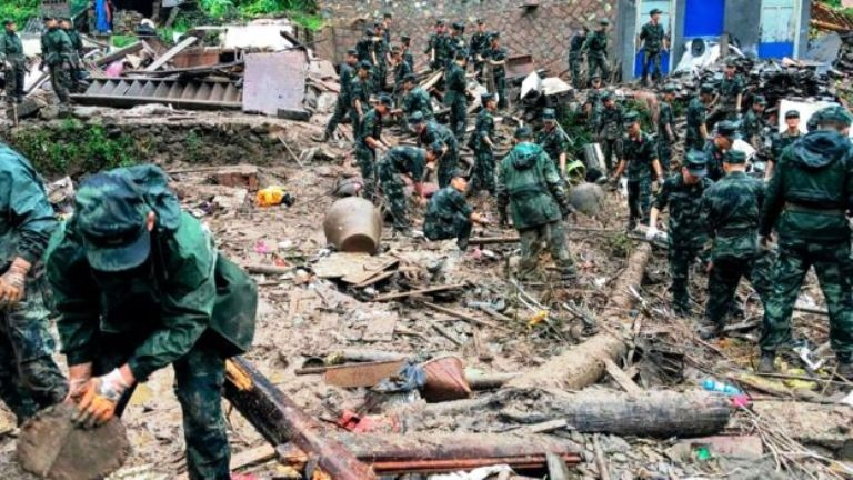 चीनमा आँधीका कारण २८ जनाको मृत्यु