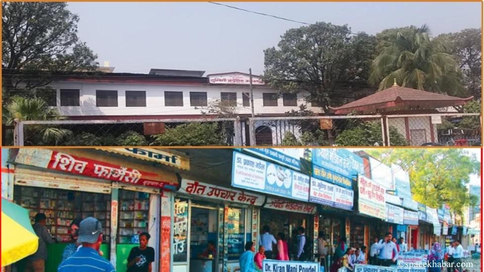 लुम्बिनी प्रदेशिक अस्पतालमा प्रदेश सरकारको डण्डा :करोडौं आम्दानी गर्ने सटर भत्काएर पर्खाल लगाउन सर्कुलर