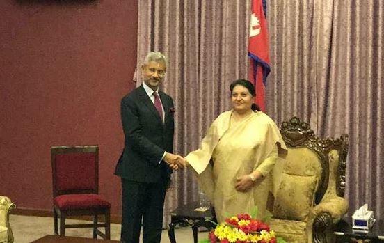 राष्ट्रपति भण्डारीसँग भारतीय विदेशमन्त्री जयशंकरको भेट