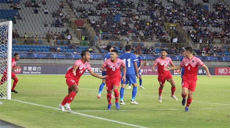 विश्वकप छनोट: नेपालले चाइनिज ताइपेइलाई २–० ले हरायो