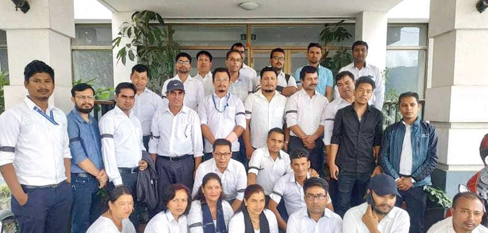 बनेपा  पोलिटेक्निकका कर्मचारीको आन्दोलन जारी