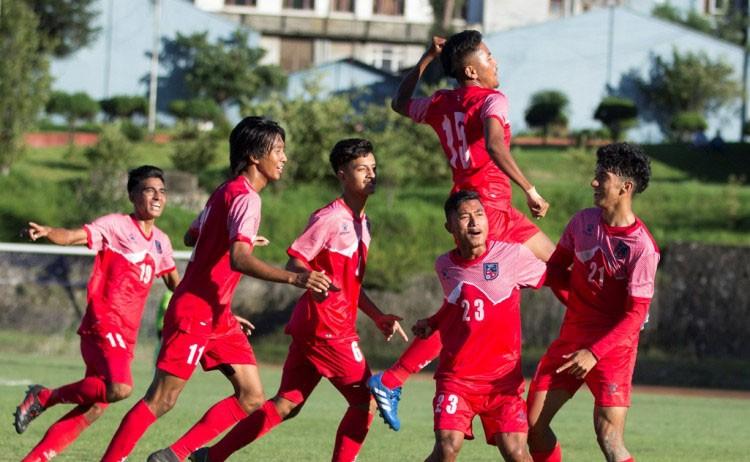 साफ यु–१८ फुटबल:नेपालले माल्दिभ्ससँग बराबरी खेल्यो