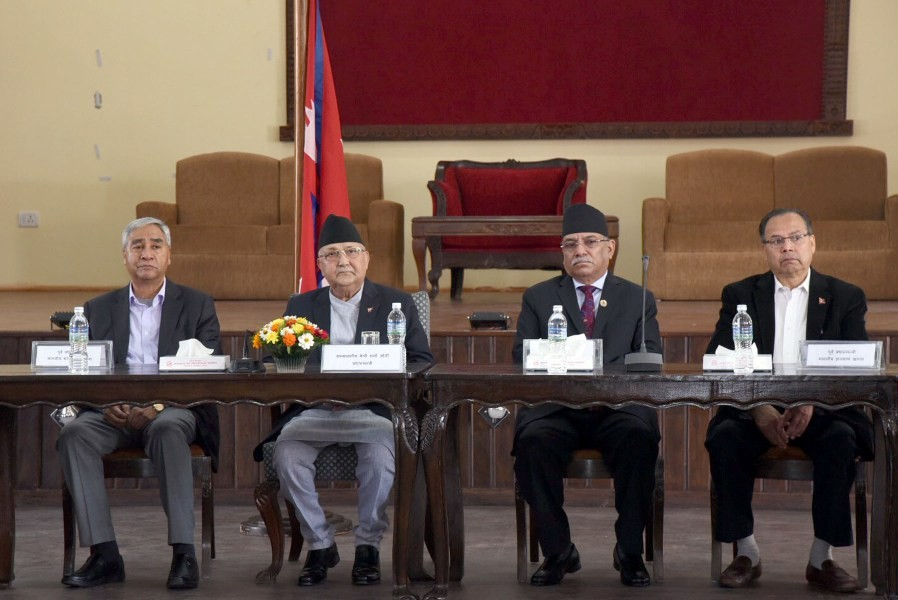 चिनियाँ राष्ट्रपति सी आसन्न भ्रमणको सन्दर्भमा प्रधानमन्त्रीद्वारा पूर्वप्रधानमन्त्रीसँग छलफल