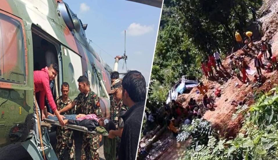 सिन्धुपाल्चोक बस दुर्घटनामा मृत्यु हुनेको संख्या १४ पुग्यो