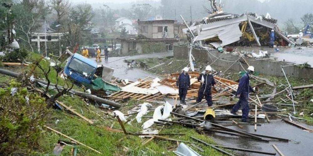 जापानमा आँधी : मृत्यु हुनेको संख्या ६४ पुग्यो
