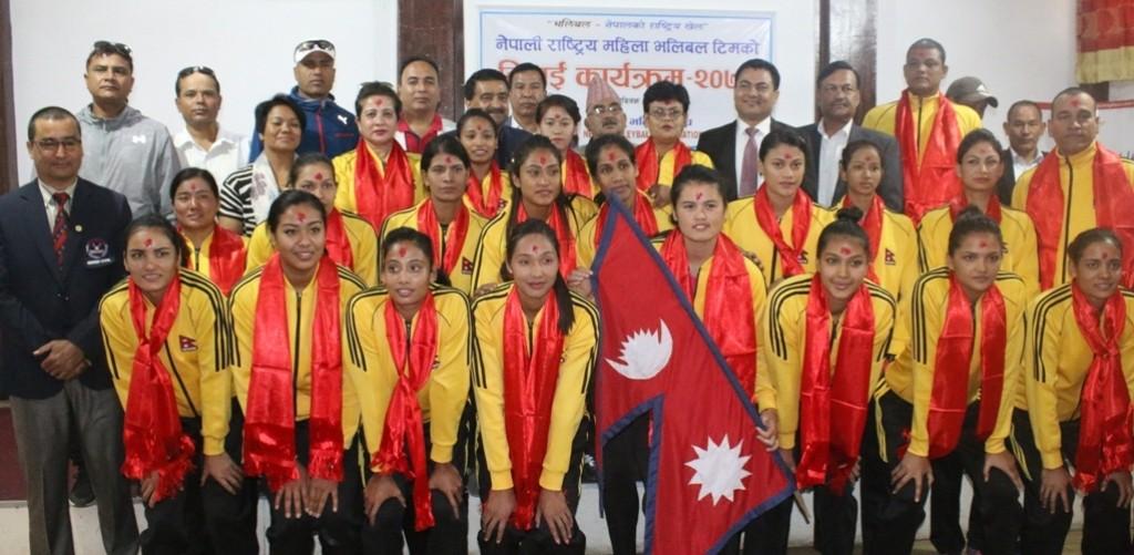 नेपाली महिला राष्ट्रिय भलिबल टोली थाइल्यान्ड जाने