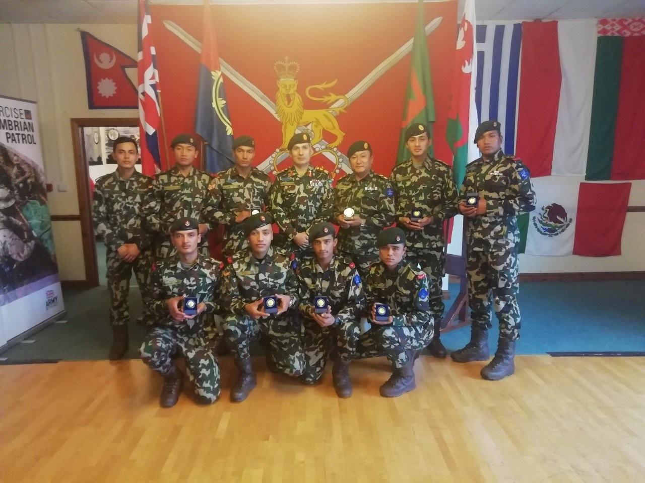 बेलायतमा नेपाली सेनालाई स्वर्ण पदक