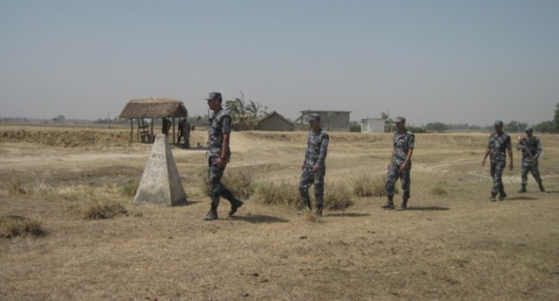 सीमा क्षेत्रमा नेपाल र भारतका सुरक्षाकर्मीको संयुक्त गस्ती