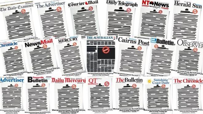 अस्ट्रेलियाका अखबारहरूले पहिलो पानामा किन कालो पोते?