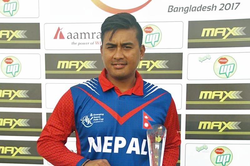 नेपाली क्रिकेट टिमका कप्तान ज्ञानेन्द्र मल्ललाई प्रधानमन्त्री ओलीको बधाई