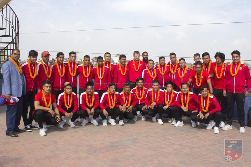 नेपाली फुटबल टोलीको बिदाइ