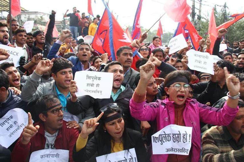 भारतीय नक्साविरुद्ध अनेरास्ववियुद्वारा भारतीय दूतावास घेराउ