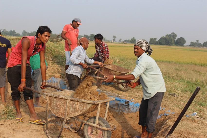 प्राचीन तिलौराकोट दरबार क्षेत्रमा उत्खनन सुरु(फोटो फिचर)