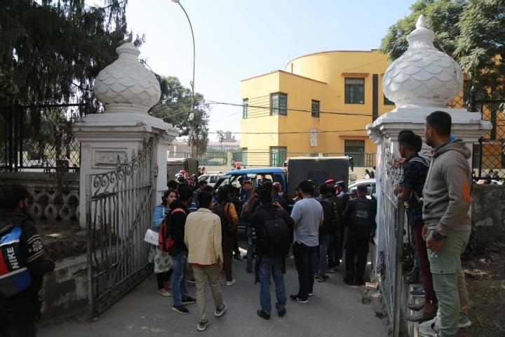 भारतीय दूतावासमा ज्ञापनपत्र बुझाउन जान लागेका 'विप्लव' का सात कार्यकर्ता पक्राउ