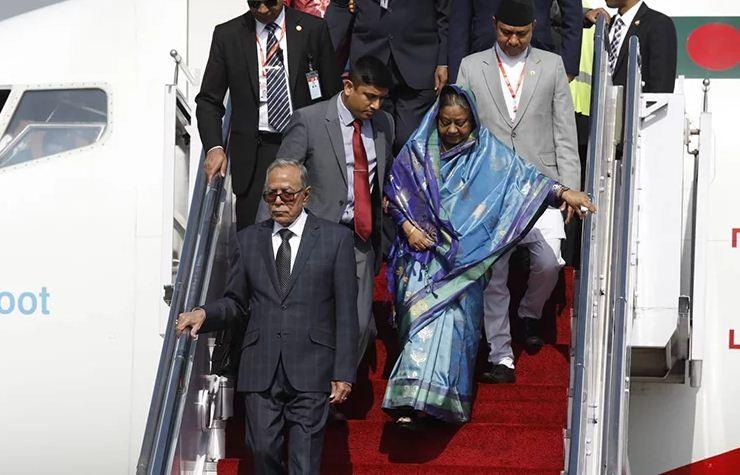 बंगलादेशका राष्ट्रपति हमिद काठमाडौंमा