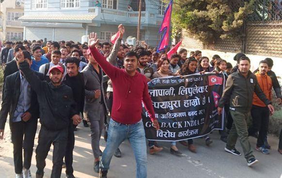 भारतीय हस्तक्षेपविरुद्ध नेविसंघको प्रदर्शन