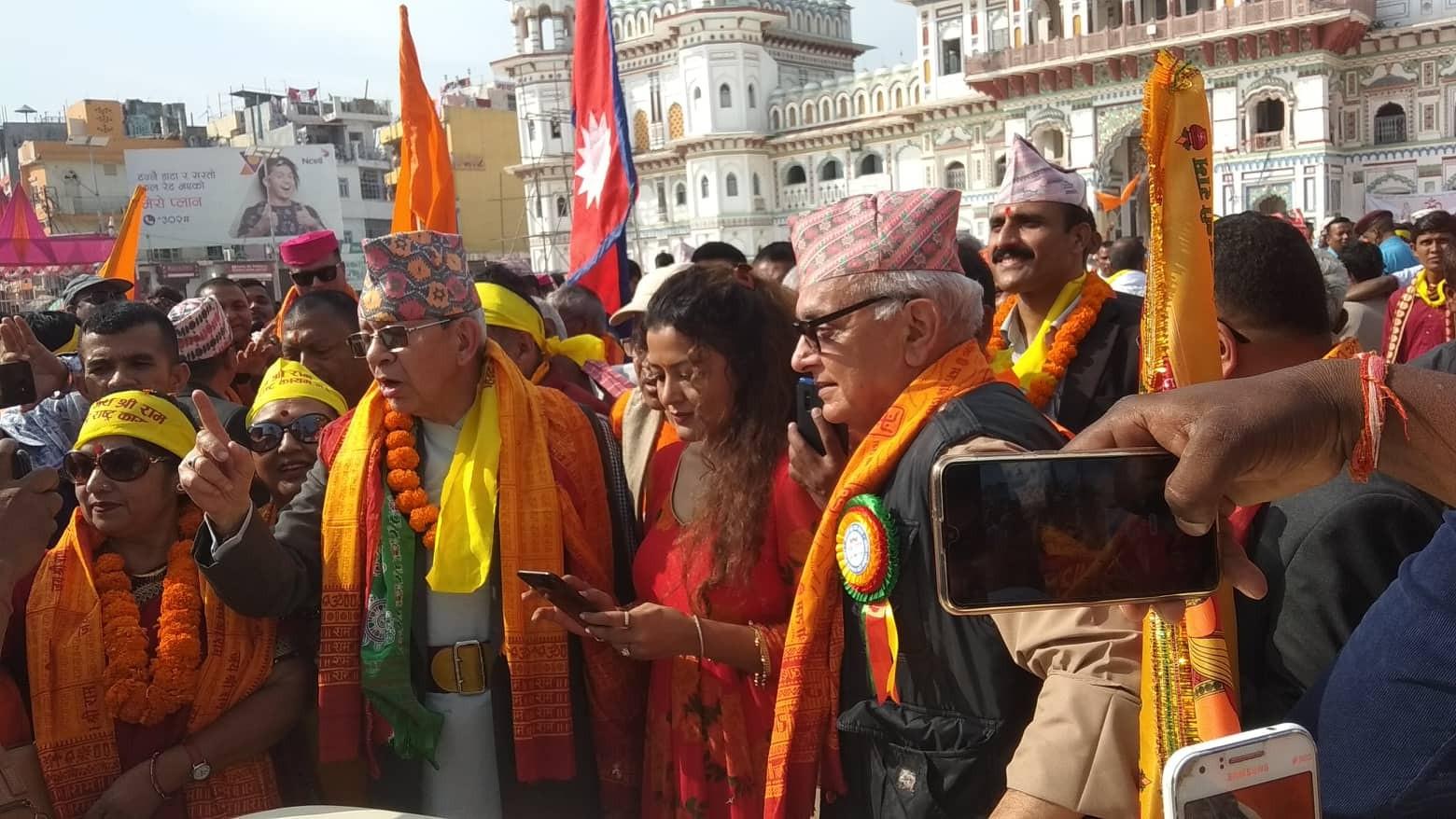 राप्रपा संयुक्तले थाल्यो जागरण यात्रा : माग- 'हिन्दु राष्ट्र'
