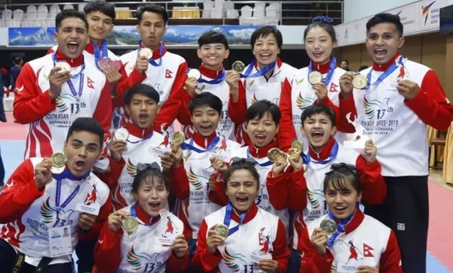 सागमा  नेपालकाे शानदार सुरुवात, एकैदिन १५ स्वर्ण पदक