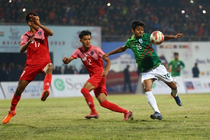 नेपाल साग पुरूष फुटबलकाे फाइनलमा:बंगलादेश १-० ले पराजित