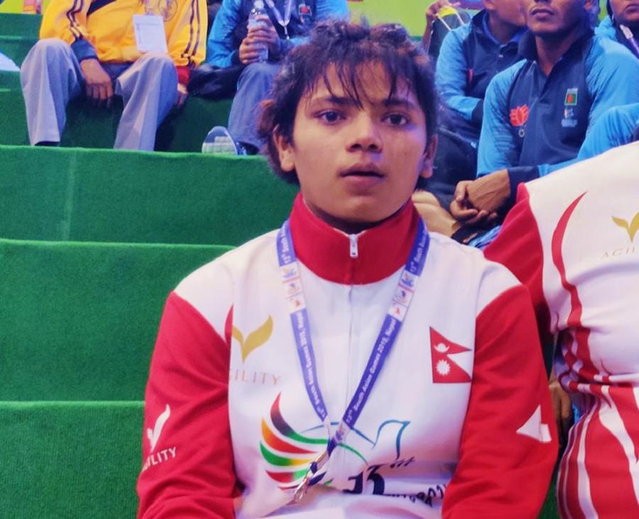 सङ्घर्षको तीन वर्षमै संगिता धामीलाई स्वर्ण पदक