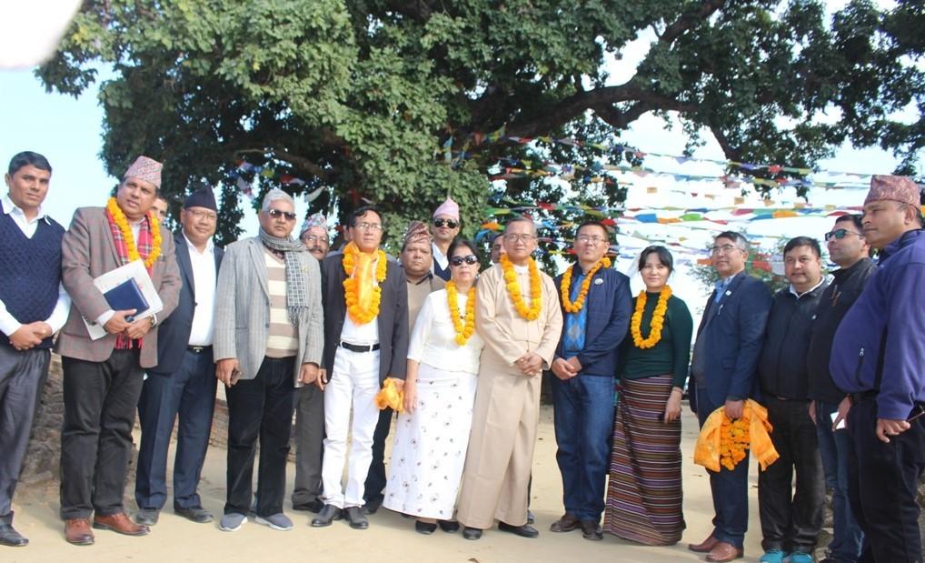 म्यानमारका पर्यटन मन्त्रीद्वारा तिलौराकोट भ्रमण