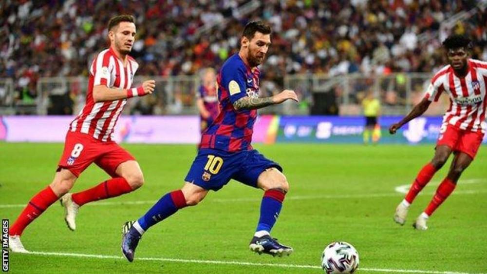 बार्सिलाेनालाई हराउँदै एट्लेटिकाे मड्रिड सुपर कपकाे फाइनलमा
