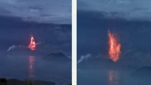 फिलिपिन्सको 'ताल' ज्वालामुखी विष्फोट, ८ हजार  व्यक्ति प्रभावित