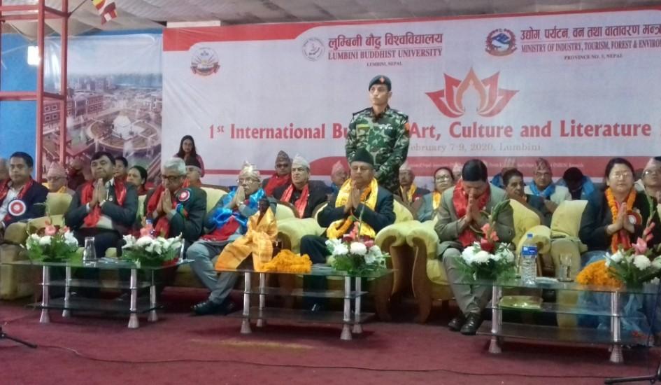 लुम्बिनी विश्वविद्यालयलाई बुद्धिजम अनुसन्धान थलोको रुपमा विकास गर्नु पर्ने : मुख्यमन्त्री पोखरेल